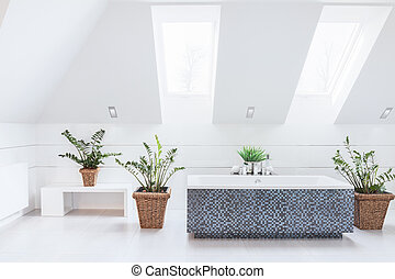 White bright bathroom