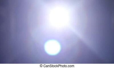 White bright spotlight. Beams light - White bright...
