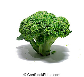 white., broccoli, voedingsmiddelen, object., vrijstaand