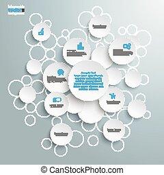White Bubble Circles Infographic