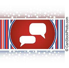 white bubble speech set icon, web button