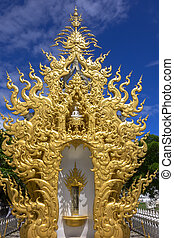 Architectural Elements Of White Temple, Contemporary unconventional Buddhist temple in Chiang Rai.