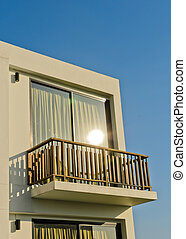 White building balcony