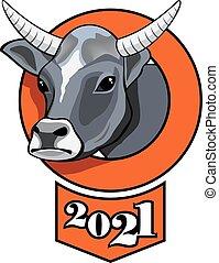 White bull, symbol of the year