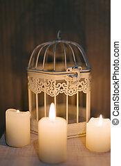 White burning candle