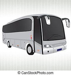 White bus. - White bus vector. Traffic, transport ...