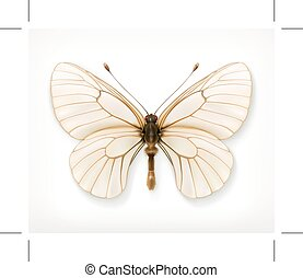 White butterfly icon