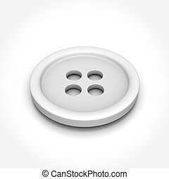 Button on White