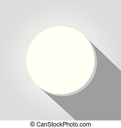 White button on white background.