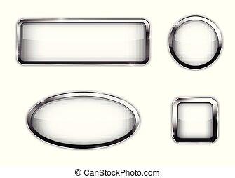 White button set