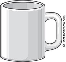 (white, café assalta, cup)