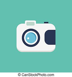 White camera icon illustration