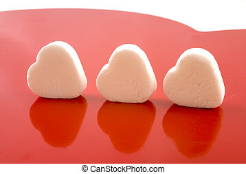 white candy heart