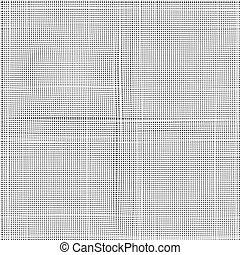 White canvas to use as background, texture, mask or bump. Seamless vector pattern. Light gray fabric texture. Vector illustration.