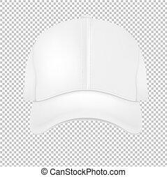 White Cap Gradient Mesh, Vector Illustration