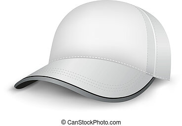 The white mesh empty template cap on the white background