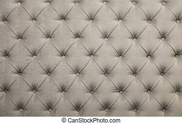White capitone tufted fabric upholstery texture - White...