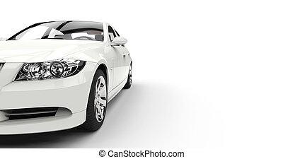 White Car Closeup