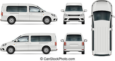 White car vector illustration