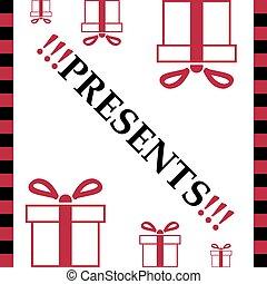 White card of present box