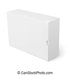 White cardboard box template. - Template of blank cardboard...