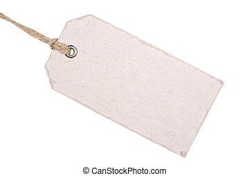 White Cardboard Tag