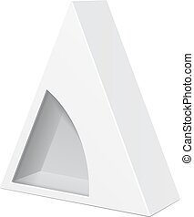 Vector Packaging Black Triangle Packaging Box With Window On
