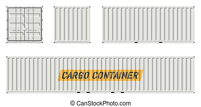 White Cargo container vector illustration