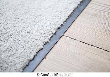 white carpet at home