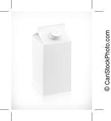 White carton box