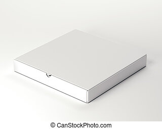 White carton package. 3d rendering