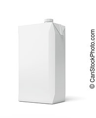 White Carton Package