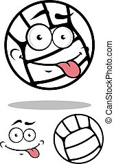 White cartoon volleyball ball