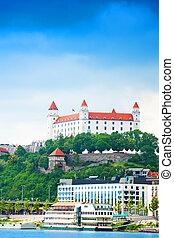 White castle in Bratislava - Panorama of Bratislava castle...