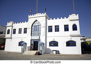 dahab - white castle police station in dahab, red sea, sinai...