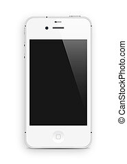 white cell phone - White smart phone isolated on white...