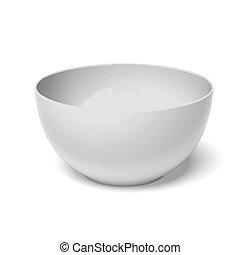 White ceramic bowl  isolated on a white background