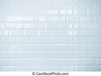 white ceramic brick tile wall, clean