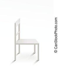 White chair on white background