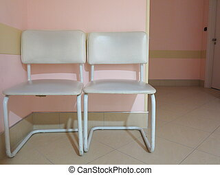White chairs in the waiting room
