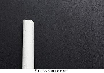White chalk on black board