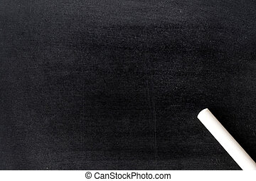White chalk on blank blackboard textured background