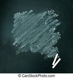 White chalk on chalkboard