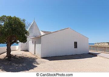 Chapel nossa senhora da rocha. Algarve. Portugal