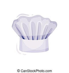 White chef hat on white background. Cook cap.