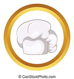 White chef hat vector icon