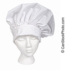 White Chef Hat with  clipping path