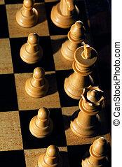 White chess pieces
