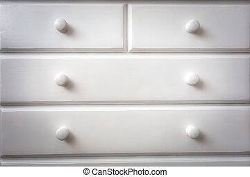 White chest of drawers modern wooden design.background texture minimalism