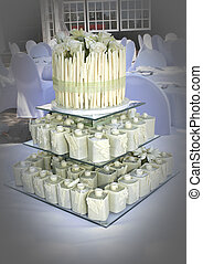 white chocolate cake - 3 tier white chocolate wedding cake